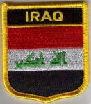 Iraq Embroidered Flag Patch, style 07.